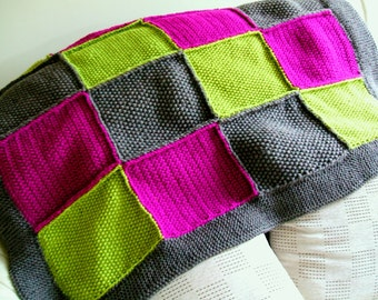 SALE! Patchwork Blanket knitting pattern pdf