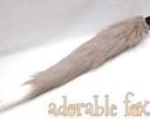 SALE - Faux Fur Fox Tail - Shaggy Grey - Cosplay / Furry / Costume