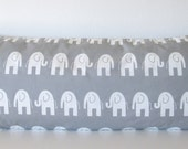 Grey decorative body pillow cover - 20x54 - grey and white animal print accent pillow cover