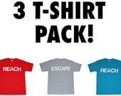 3 T-Shirt Pack - 3 kaufen und Geld sparen