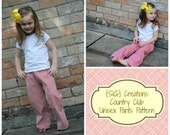 INSTANT Download SIG Country Club Pants and Shorts Pattern eBook - Size 12 month to 5T