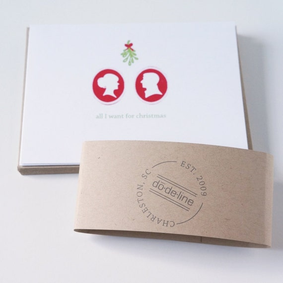 Christmas Card Romantic Boyfriend Girlfriend Husband Wife All I Want for Christmas is You Holiday Card