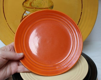 Bauer Pottery Orange Ringware Salad Plate 8 inch California VINTAGE by Plantdreaming