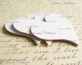 "120 Hearts Tags Style II Size 2.50"" In Non-textured or Textured Cardstock paper -"