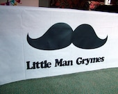 Personalized Mustache Party Table Cloth