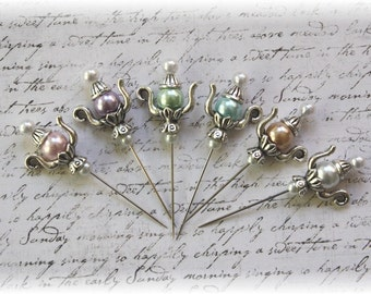 Teapot Stick Pin Light Collection,  for Scrapbook, Cardmaking, Mini Album, Tag Art