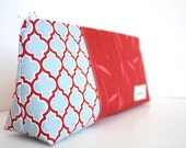 Personalized Cosmetic Makeup Bag - Lodge Lattice- Made to Order