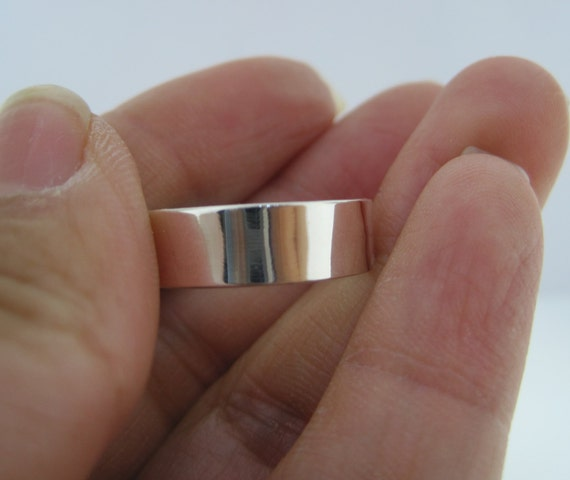 2 pcs - Sterling Silver Band Ring - For Your Hand Stamping Jewelry Supplies- High Quality, High Polish Band
