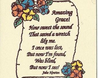 Amazing Grace-Inspirational Card-Set of 10