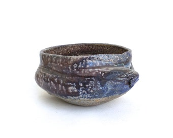 rare vintage paul soldner wood fired  stoneware bowl