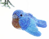 Bluebird  Ornament Beaded Eastern Bluebird Spring Decoration Mother's Day Gift *MADE TO ORDER