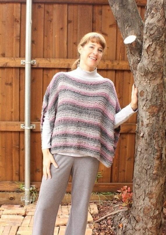 Knitting Pattern Easy Knit Cape Poncho by KimberleesKorner