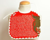 fairy tale baby bib with Little Red Riding Hood tale (baby boy)
