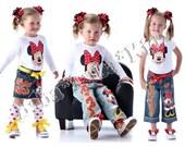 Boutique custom painted SET 12 18 24 2 3 4 5 6 7 8 9 10 shorts, jean or skirt set ETSYKIDS