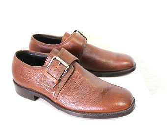 Vintage 70s shoes Loafers Buckle The Floresheim Imperial Quality Mens Size 10