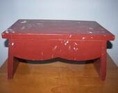 VIntage handmade  riser  stepping stool rustic Farmhouse decor
