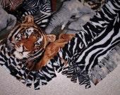 Fleece Blanket - Animals - Safari Wildlife