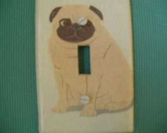 Fawn Pug Switch Plate Cover
