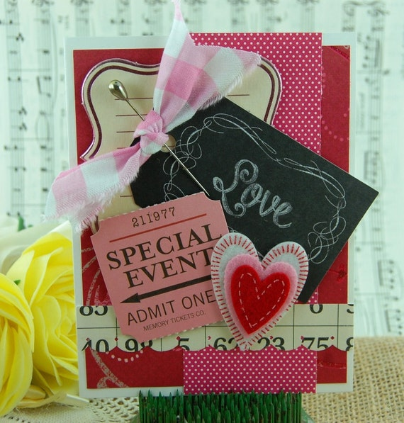 Love is a Special Event Valentines Anniversary Handmade Card