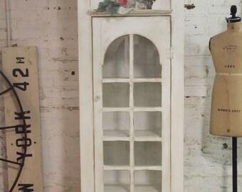 Painted Cottage Shabby Handmade Farmhouse Cabinet CC48
