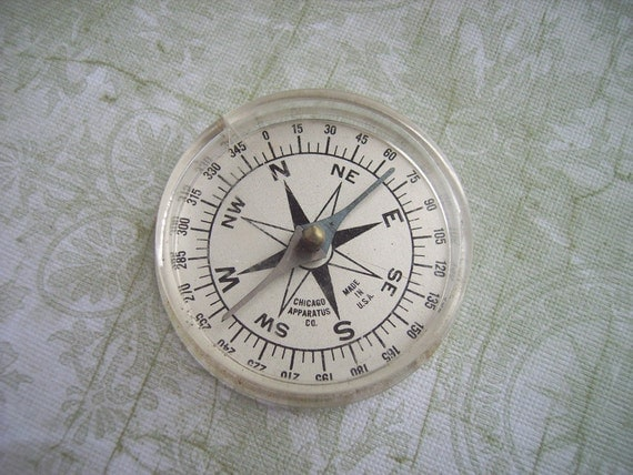 Vintage Milvay Compass – Chicago Apparatus Co. Made in USA – Great Camping, Glamping, Hiking, Hunting Gear or Jewelry Component Pendant