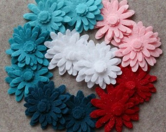 Frosted Sweets - Mums - 48 Die Cut Felt Flowers