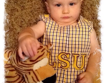 LSU Jon Jon with large applique-sizes 1-4