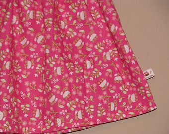 BUY 2 Get1 FREE - Pink Garden Picnic -Baby Toddler Girls Skirt -Beautiful Floral Print - Great for Spring Summer - Matching Top Available