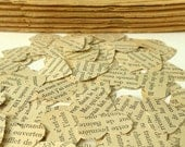 French words for a romantic wedding...vintage French for hearts confetti... 100 paper hearts... Le Grand Meaulnes... embellishment hearts