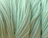 Glass Green Worsted Weight Hand Dyed Merino Wool Yarn