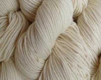 Natural White DK Sport Weight Merino Wool Yarn Natural Un-Dyed