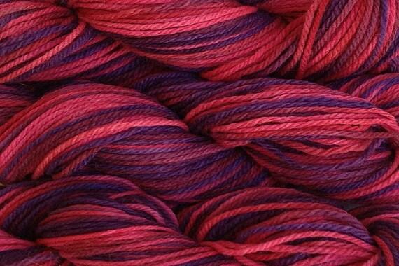 Handpainted Merino Wool Worsted Weight Yarn in Hard Candy