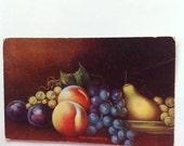 Vintage Thanksgiving Postcard 5502 Fruits Vintage Original Postmarked 1911 Stamp Thetford VT