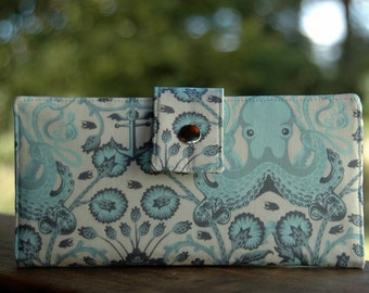 Octopus wallet iphone clutch vegan handmade