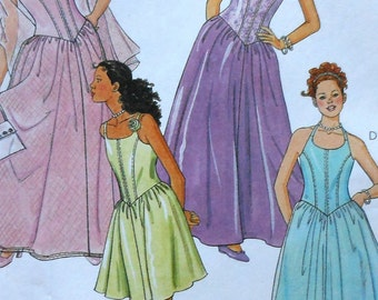 Girls Dress and Gown Sewing Pattern UNCUT McCalls 2151 Girls sizes 12,14,16