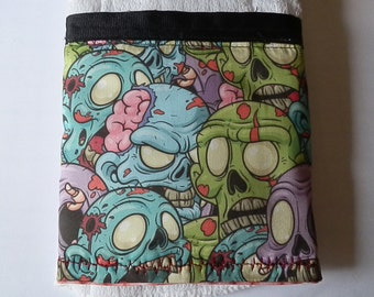Zombie/Brain Burp Cloth (Set of 2)