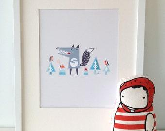 OSCAR THE WOLF Print