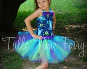 Monsters Inc Monsters University corset birthday tutu dress Any size 12 months 18 months 2t 3t 4t 5t 6