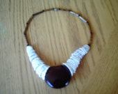 heart of the sea/shell/baral necklace from the yucatan '83