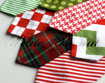 Little Guy Necktie  - COLORFUL CHRISTMAS Collection - (4-6 years) - Boy Toddler - (Made to Order)- Wedding - Photo Prop Holiday