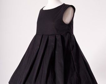 Black Babydoll Dress Gothic Goth Lolita Loli Dress Pleated Sleeveless Empire Waist Jumper Sundress Custom Size Plus Size Made to Measure