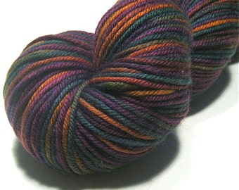 DK yarn hand dyed - superwash merino cashmere nylon - Blooming Meadow - knitting yarn - hand painted skein - dk weight yarn