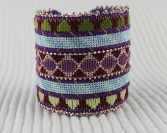 Needlepoint Cuff Bracelet Kit- The NIGHTSHADE Cuff