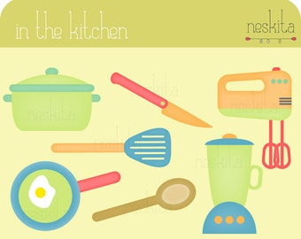 Clip art set - In the kitchen