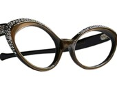 Rhinestone Studded Cat Eye Glasses Frame France