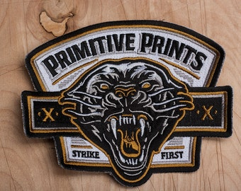 """Strike First- 5"""" Embroidered Patch"""