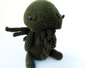 Crochet PATTERN PDF - Amigurumi Monster Cthulhu Plush - H.P Lovecraft, amigurumi pattern, crochet monster plush, monster toy, softie