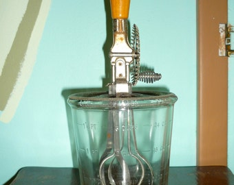 Vintage A&J Manual Glass Mixer