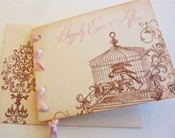 Vintage Wedding Invitation and RSVP Fairy Tale Vintage Storybook Style - 10 invitations with RSVP and envelopes