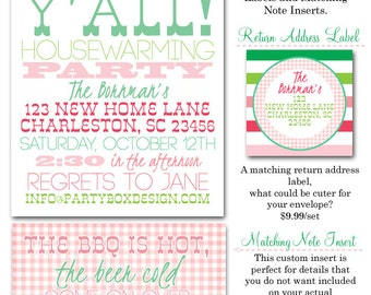 Welcome Y'all Housewarming Invites (20 printed 5x7)